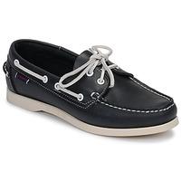 Schoenen Dames Bootschoenen Sebago DOCKSIDES PORTLAND W Blauw