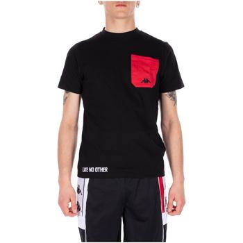 Textiel Heren T-shirts korte mouwen Kappa AUTHENTIC BAIAS 902-black-red-white
