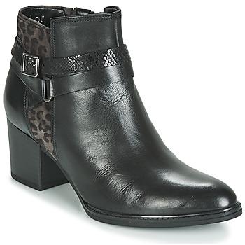 Schoenen Dames Enkellaarzen Gabor 3289367 Zwart / Luipaard
