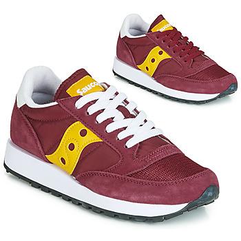 Schoenen Dames Lage sneakers Saucony JAZZ ORIGINAL VINTAGE Bordeau / Geel