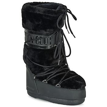 Schoenen Dames Snowboots Moon Boot MOON BOOT CLASSIC FAUX FUR Zwart
