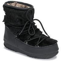 Schoenen Dames Snowboots Moon Boot MOON BOOT MONACO LOW FUR WP Zwart