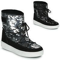 Schoenen Dames Snowboots Moon Boot MOON BOOT PULSE MID DISCO Zwart / Pailletten