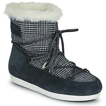 Schoenen Dames Snowboots Moon Boot MOON BOOT FAR SIDE LOW FUR TARTAN Marine