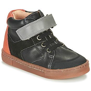 Schoenen Jongens Hoge sneakers Babybotte KEN Zwart / Oranje