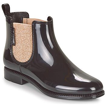 Schoenen Dames Regenlaarzen Be Only NASHVILLE Zwart / Goud
