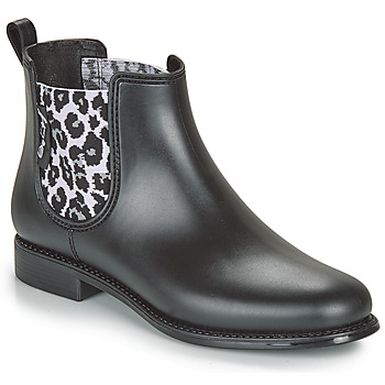 Schoenen Dames Regenlaarzen Be Only DAKAR Zwart / Luipaard