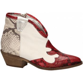 Schoenen Dames Enkellaarzen Le Pure  bianco-roccia-rosso