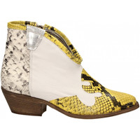 Schoenen Dames Enkellaarzen Le Pure  bianco-roccia-giallo