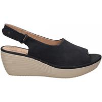 Schoenen Dames Sandalen / Open schoenen Clarks REEDLY SHAINA NUBUCK navy