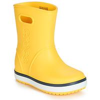Schoenen Kinderen Regenlaarzen Crocs CROCBAND RAIN BOOT K Geel / Marine
