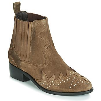 Schoenen Dames Laarzen Pepe jeans CHISWICK LESSY Bruin