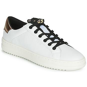 Schoenen Dames Lage sneakers Geox D PONTOISE Wit / Koper