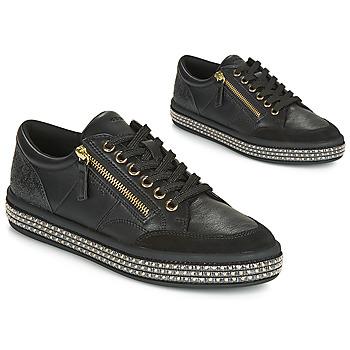 Schoenen Dames Lage sneakers Geox D LEELU' Zwart