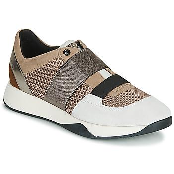Schoenen Dames Lage sneakers Geox D SUZZIE Taupe / Zilver
