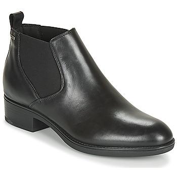 Schoenen Dames Laarzen Geox D FELICITY NP ABX C Zwart