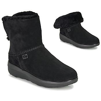 Schoenen Dames Laarzen FitFlop MUKLUK SHORTY III Zwart