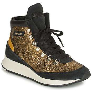 Schoenen Dames Hoge sneakers Philippe Model MONTECARLO Goud / Zwart