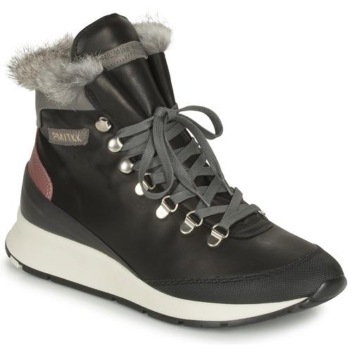 Schoenen Dames Hoge sneakers Philippe Model MONTECARLO Zwart