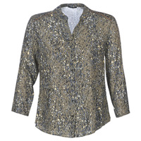 Textiel Dames Tops / Blousjes One Step CARLY CHEMISE Kaki / Multicolour