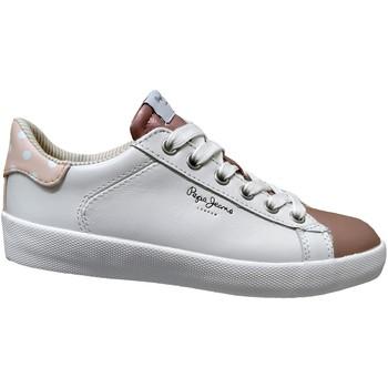 Schoenen Dames Lage sneakers Pepe jeans Kioto dotty Wit / roze