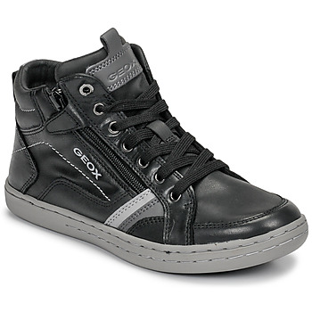Schoenen Jongens Hoge sneakers Geox JR GARCIA BOY Zwart / Grijs