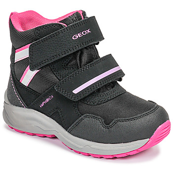 Schoenen Meisjes Snowboots Geox J KURAY GIRL B ABX Zwart / Roze