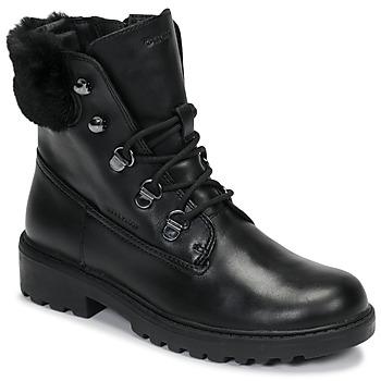 Schoenen Meisjes Laarzen Geox J CASEY GIRL WPF Zwart