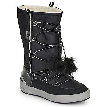 Schoenen Meisjes Snowboots Geox J SLEIGH GIRL B ABX Zwart