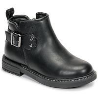 Schoenen Meisjes Laarzen Geox J ECLAIR GIRL Zwart