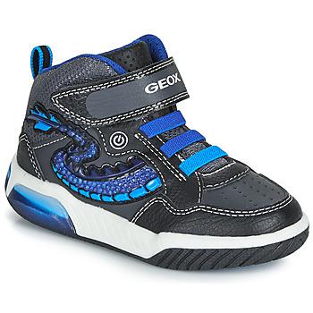 Schoenen Jongens Hoge sneakers Geox J INEK BOY Zwart / Blauw