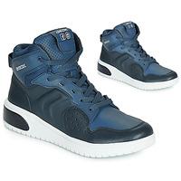 Schoenen Jongens Hoge sneakers Geox J XLED BOY Blauw / Led