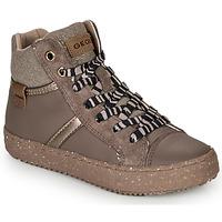 Schoenen Meisjes Hoge sneakers Geox J KALISPERA GIRL Grijs