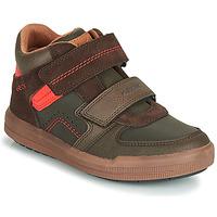Schoenen Jongens Hoge sneakers Geox J ARZACH BOY Bruin / Oranje
