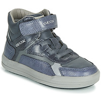 Schoenen Jongens Hoge sneakers Geox J ARZACH BOY Blauw / Grijs