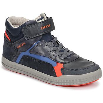 Schoenen Jongens Hoge sneakers Geox J ARZACH BOY Blauw / Oranje