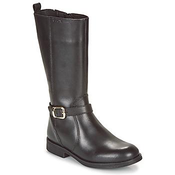 Schoenen Meisjes Hoge laarzen Geox JR AGATA Zwart