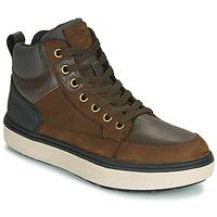Schoenen Jongens Hoge sneakers Geox J MATTIAS B BOY ABX Mokka / Zwart