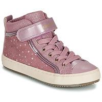 Schoenen Meisjes Hoge sneakers Geox J KALISPERA GIRL Roze
