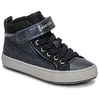 Schoenen Meisjes Hoge sneakers Geox J KALISPERA GIRL Blauw