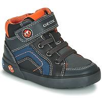 Schoenen Jongens Hoge sneakers Geox B KILWI BOY Grijs / Zwart