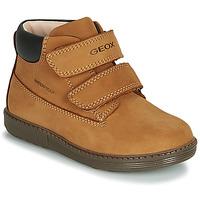 Schoenen Jongens Hoge sneakers Geox B HYNDE BOY WPF Bruin