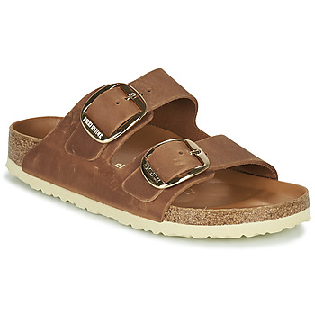 Schoenen Dames Leren slippers Birkenstock ARIZONA BIG BUCKLE Bruin