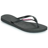 Schoenen Dames Teenslippers Havaianas SLIM LOGO METALLIC Zwart