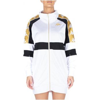 Textiel Dames Korte jurken Kappa 222 BANDA 10 BANIK 913-white-black-yellow