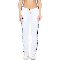 Textiel Dames Trainingsbroeken Kappa 222 BANDA WASTORIA SNAPS SLIM a65-white-black