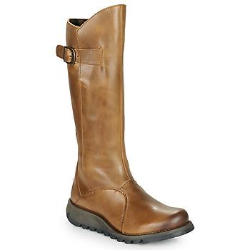 Schoenen Dames Hoge laarzen Fly London MOL 2 Camel