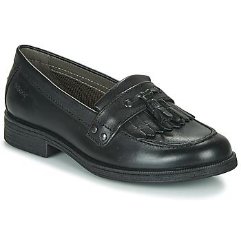 Schoenen Meisjes Derby Geox JR AGATA A Zwart