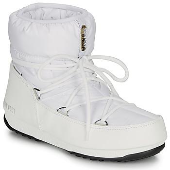 Schoenen Dames Snowboots Moon Boot LOW NYLON WP 2 Wit