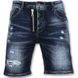 Textiel Heren Korte broeken / Bermuda's Enos Spijkerbroek Kort Driekwart Broek J Blauw